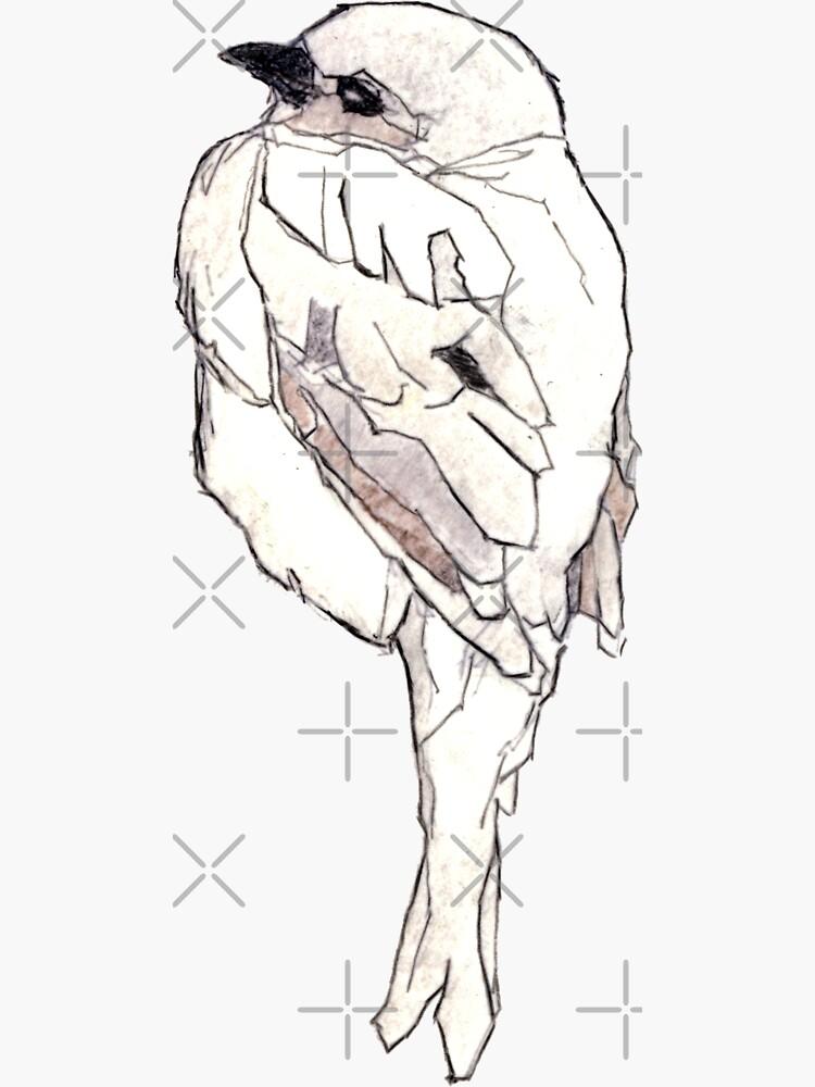 Zarter Vogel. Zeichnung Koloriert von ghostwillow