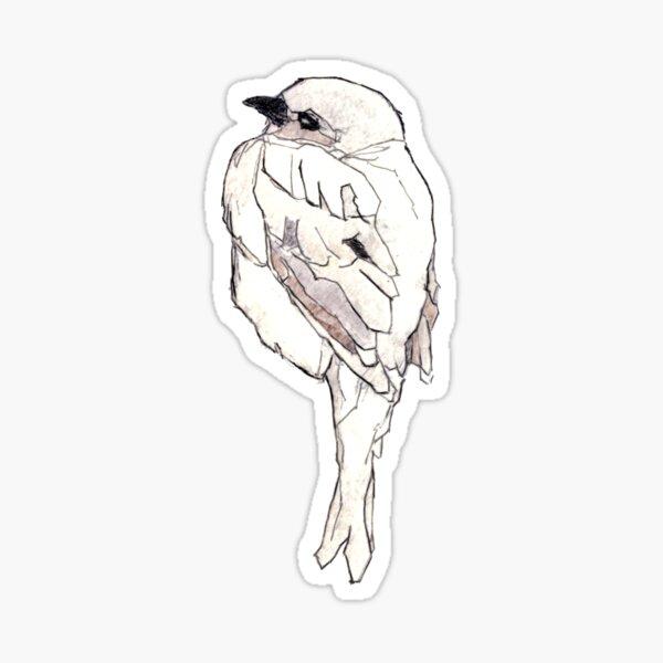Zarter Vogel. Zeichnung Koloriert Sticker