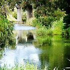 Reflection of Rail Bridge in Werribee River. Vic. Australia by EdsMum