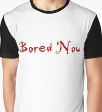 Bored Now (Red) Graphic T-Shirt