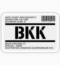 Bangkok Thailand Suvarnabhumi airport destination stamp Sticker