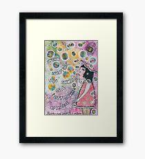 Bubbles make your soul smile Framed Print