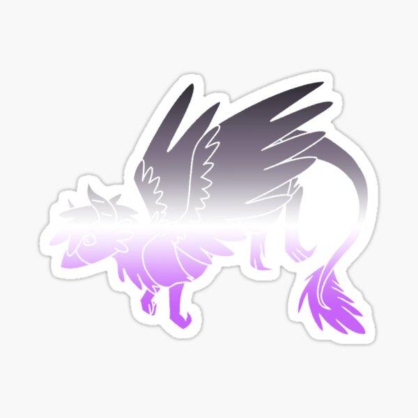 Asexual Pride Dragon Sticker
