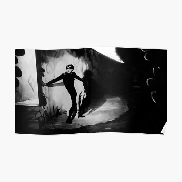 Scene from The Cabinet of Dr Caligari Poster