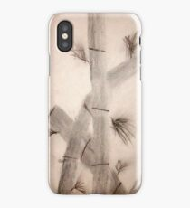 Sumi-E Close Up Segments and Leaves iPhone Case/Skin