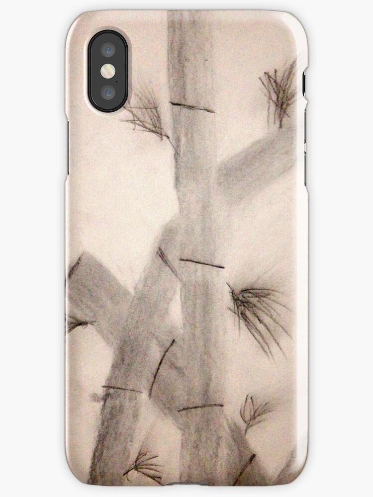 Sumi-E Close Up Segments and Leaves by wearetough