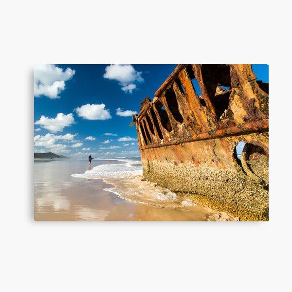 Fishing for Wrecks - SS Maheno Canvas Print