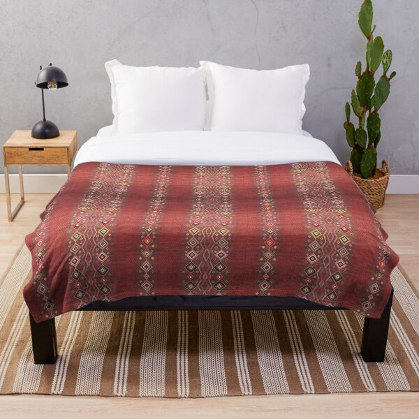 Bohemian Hippie Traditional Moroccan Style Throw Blanket