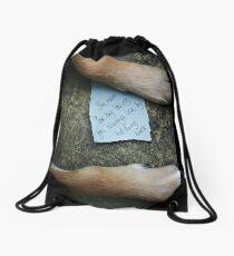 Don't Hold Back (love) Drawstring Bag