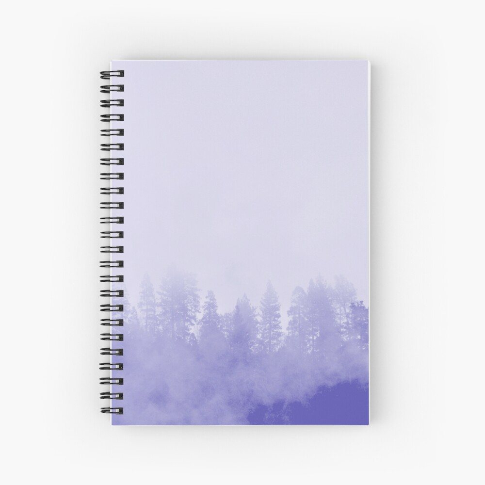 Purple Fog in the Trees Spiral Notebook