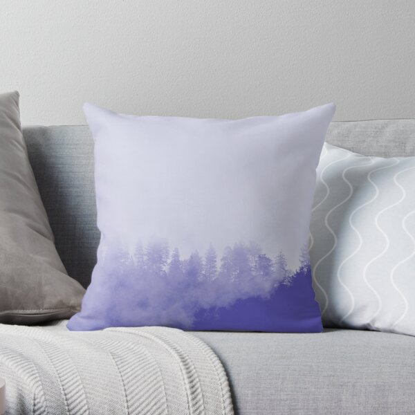Purple Fog in the Trees Throw Pillow