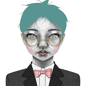 006 Gold Specs & a Bow-tie by inkioh