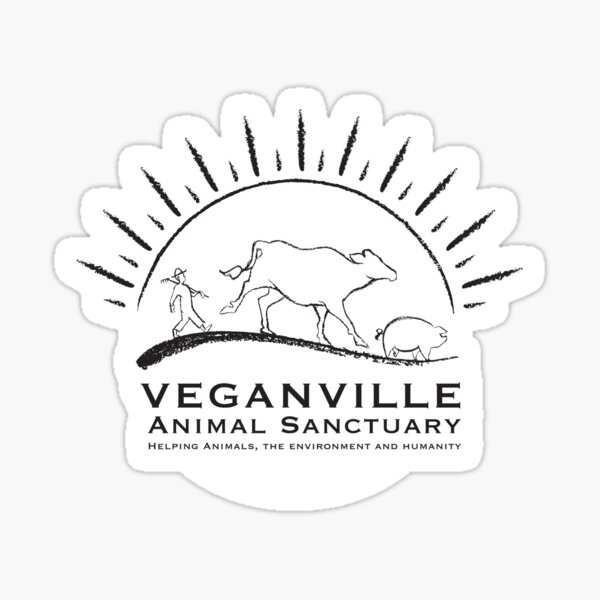 Veganville Animal Sanctuary Sticker