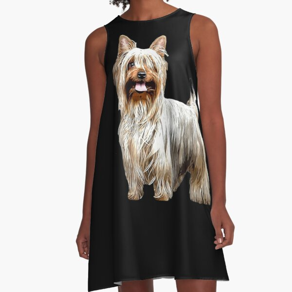 Australian Silky Terrier A-Line Dress