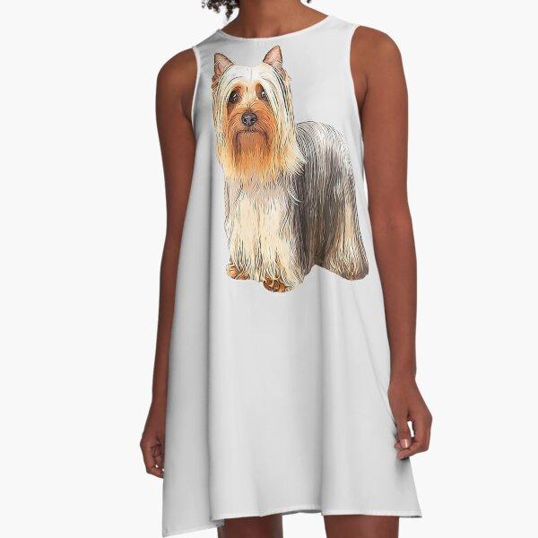 Silky Terrier - Australian Silky Terrier A-Line Dress