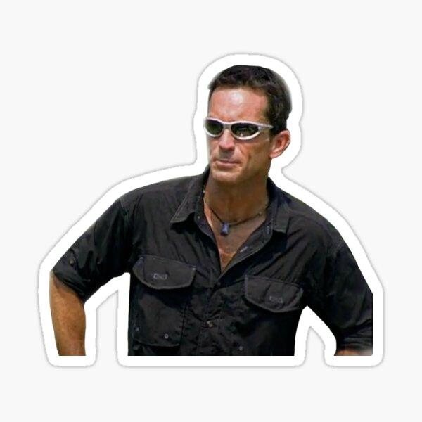 jeff probst wearing glasses Sticker