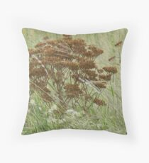 Burnished Wild Carrot Throw Pillow