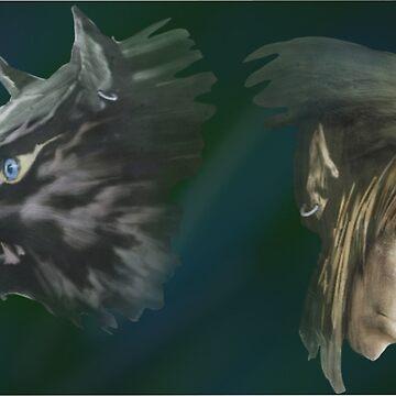 Link Wolf + Link by EdenMckster