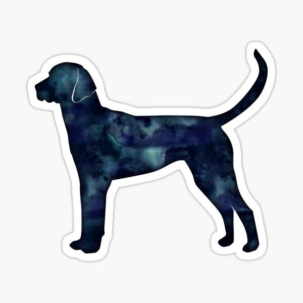 English Foxhound Black Watercolor Silhouette Sticker