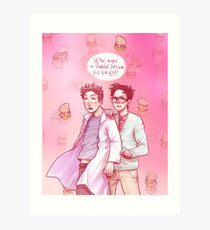 cloudy with a chance of uh-oh Art Print