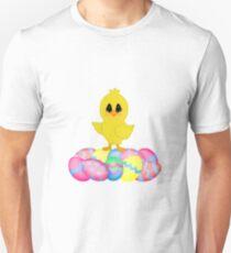 Easter Chick on Pastel Eggs Unisex T-Shirt
