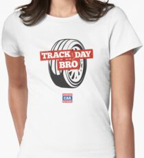 Track Day Bro Women's Fitted T-Shirt