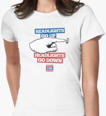 Headlights go UP, Headlights go DOWN! Women's Fitted T-Shirt