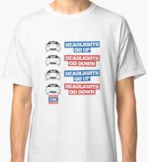"""Headlights Go Up/Down"" Miata MX-5 Classic T-Shirt"