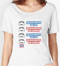 """Headlights Go Up/Down"" Miata MX-5 Women's Relaxed Fit T-Shirt"