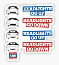 """Headlights Go Up/Down"" Miata MX-5 Sticker"