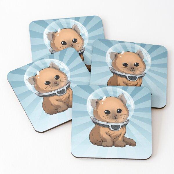 Keep Calm Kitty Coasters (Set of 4)