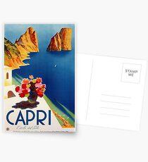 Weinlese-Capri-Reise Postkarten