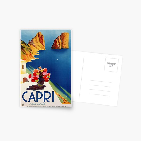 Vintage Capri Travel  Postcard