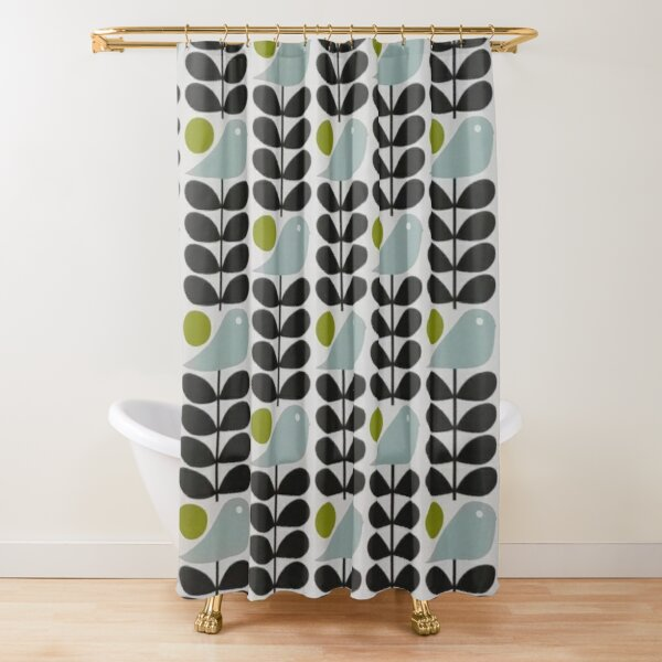 abstract multi stem birds design  Shower Curtain