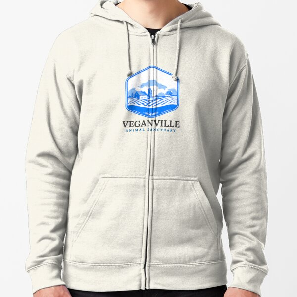 Veganville - Just Look for the Blue Roof Zipped Hoodie