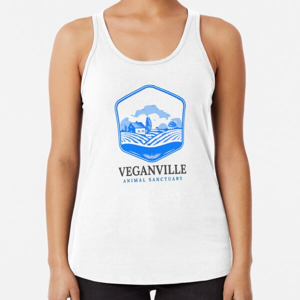 Veganville - Just Look for the Blue Roof Racerback Tank Top