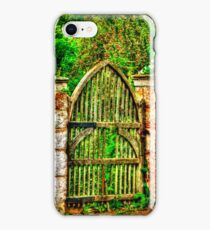 The Old Garden Gate (HDR) iPhone Case/Skin