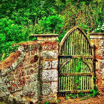 The Old Garden Gate (HDR) by InspiraImage