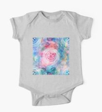 Indian white pattern on a watercolor background Kids Clothes