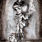 Miss Terri Riddles - Big eyed gothic investigateur extraordinaire!  by Isobel Von Finklestein