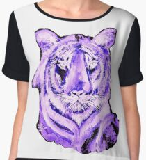 PURPLE TIGER LIGHT COLLECTION Chiffon Top