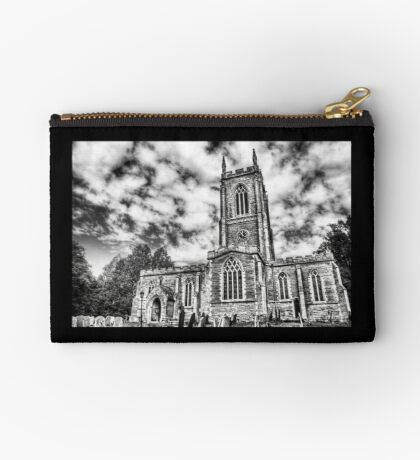 Orlingbury church (black and white) Zipper Pouch