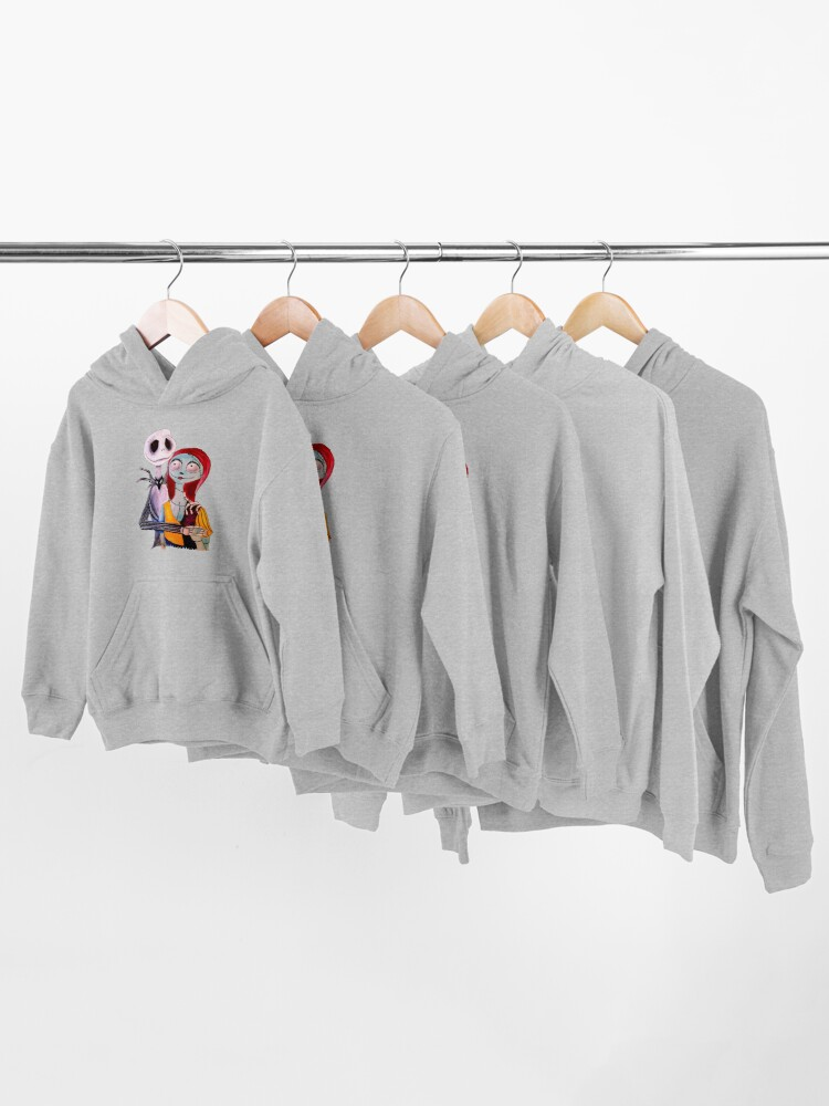 Alternate view of Jack and Sally Kids Pullover Hoodie