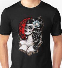 Tag der Toten Pinup Tattoo Unisex T-Shirt