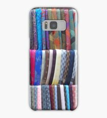 Rows Stripes of Hanging Colourful Pashmina Scarves  Samsung Galaxy Case/Skin