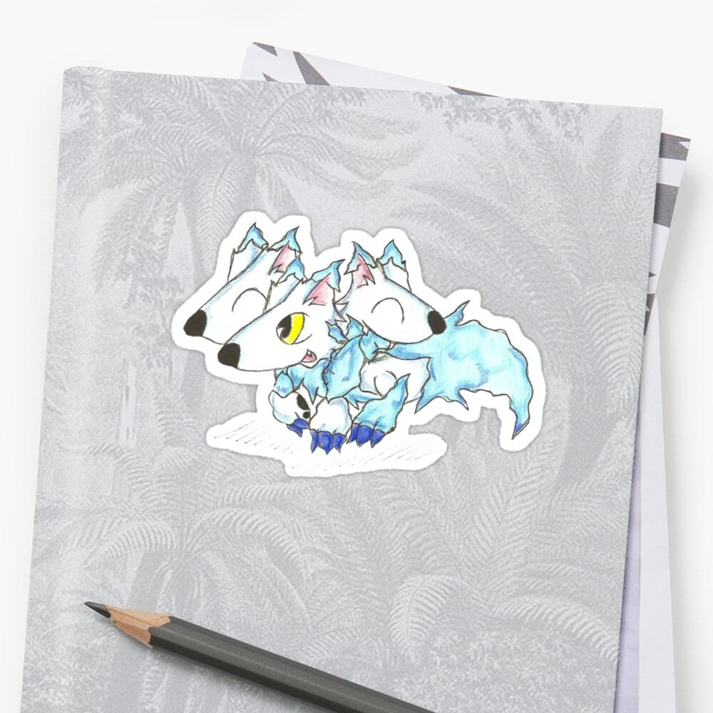Ice Cerberus Pup by KOKeefeArt