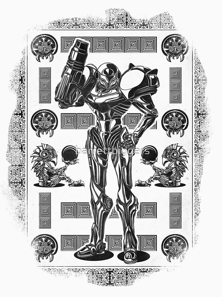 Metroid Samus Aran Geek Line Artly T-Shirt