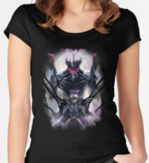 Kawrou Evangelion Anime Tra Digital Painting  Women's Fitted Scoop T-Shirt