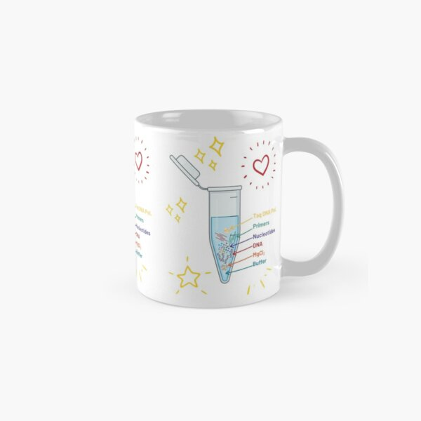 The Perfect PCR Polymerase Chain Reaction Process Steps Chemicals Biology Science Pipette Tubes Classic Mug