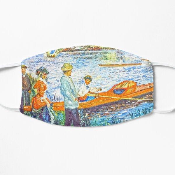 oarsmen at chatou Flat Mask